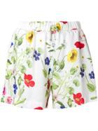 Blugirl Floral Print Shorts - White