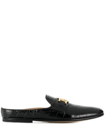 Versace Logo Appliqué Loafers - Black