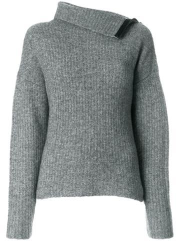 Rag & Bone Lyza Turtleneck Sweater - Grey