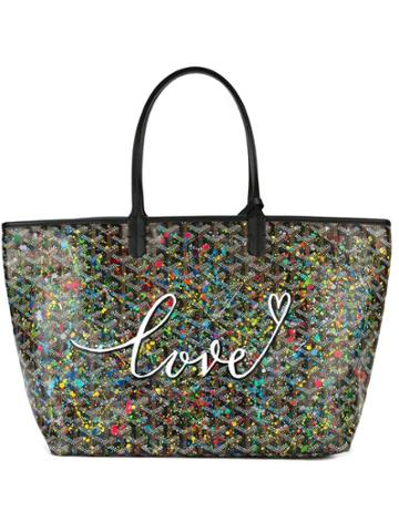 Goyard Pre-owned Love Print Shopper Tote - Black