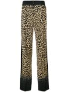 Etro Leopard Print Casual Trousers - Brown