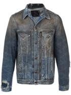 R13 Zipped Detail Denim Jacket - Blue