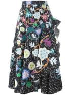 Peter Pilotto Printed Flared Skirt