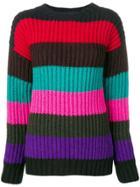 P.a.r.o.s.h. Striped Sweater - Black