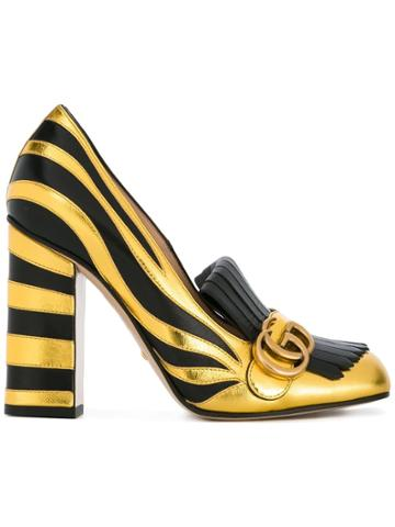 Gucci Zebra Fringed Pumps - Black
