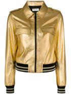 Saint Laurent Metallic Teddy Jacket