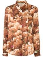 Marco De Vincenzo Tree Print Shirt - Brown