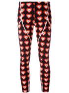 Fendi Heart-print Capri Leggings, Women's, Size: 42, Black