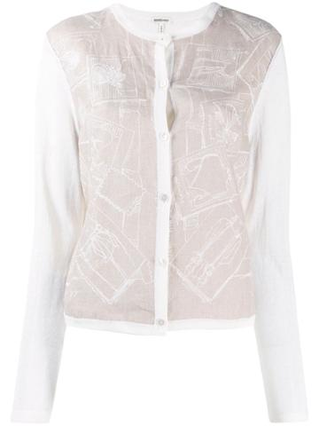 Hermès Pre-owned Sketches Print Buttoned Cardigan - Neutrals
