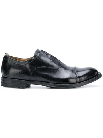 Officine Creative Worn Effect Oxford Shoes - Black