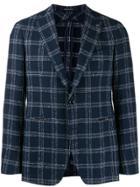 Tagliatore Checked Blazer Jacket - Blue