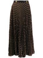 Prada Pleated Polka Dot Skirt - Brown