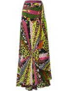 Versace Floral Maxi Skirt