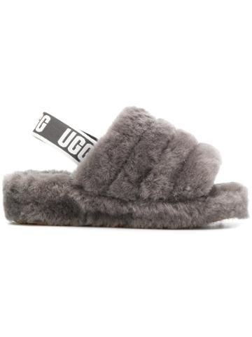 Ugg Australia Slingback Woolly Slippers - Grey