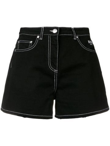 Msgm Short Denim Shorts - Black