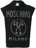 Moschino Studded Sleeveless Hoodie - Black