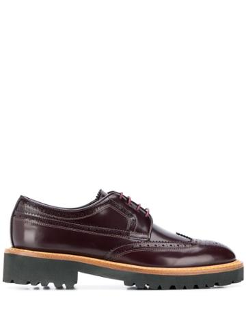 Paul Smith Leather Oxford Shoes - Red