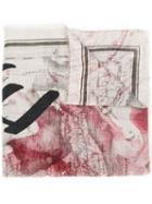 Faliero Sarti Map Print Scarf - Grey