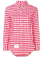 Thom Browne Gingham Check Classic Oxford Shirt - Red