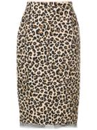 No21 Leopard Print Midi Skirt - Brown