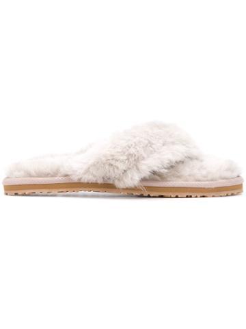 Mou Furry Flip-flops - Grey