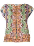 Etro Printed Blouse, Women's, Size: 44, Silk