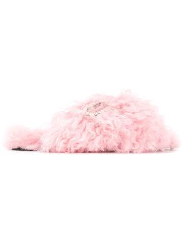 Rochas Crystal Logo Slides - Pink