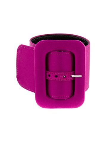Attico Buckle Strap Anklet, Women's, Pink/purple, Silk/viscose/leather