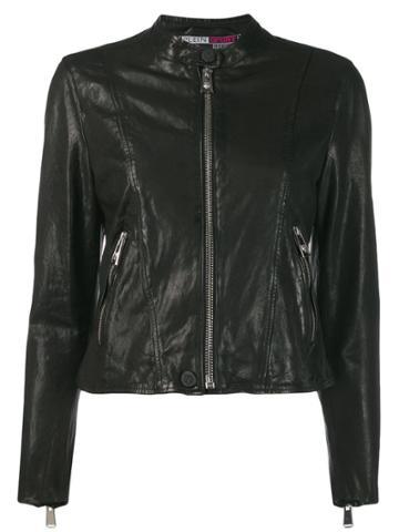 Plein Sport Moto Jacket - Black