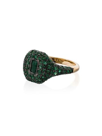 Shay 18k Yellow Gold Emerald Ring - Metallic
