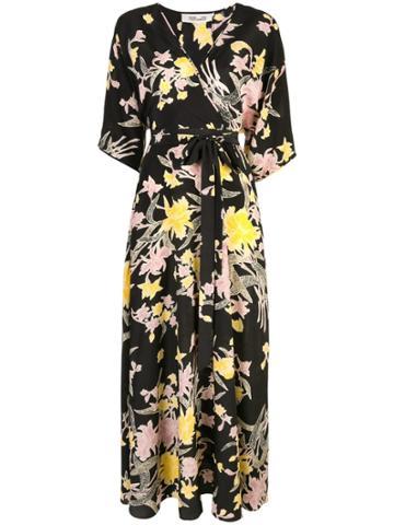 Dvf Diane Von Furstenberg Eloise Maxi Wrap Dress - Black