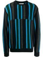 Pringle Of Scotland Deconstructed Stripe Sweater - Blue