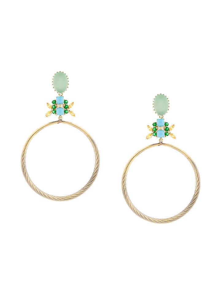 Iosselliani Elegua Hoop Earrings - Metallic