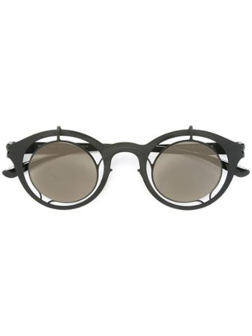 Mykita Round Frame Glasses, Black, Stainless Steel/glass