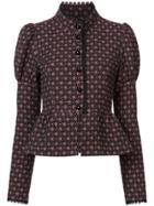 Anna Sui Grace's Floral Jacquard Jacket - Black