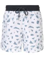 Venroy All-over Print Swim Shorts - White