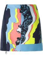 Versace 'jagged Baroque' Zipped Mini Skirt