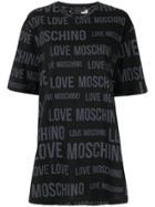 Love Moschino All Over Logo Print T-shirt - Black