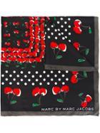 Marc By Marc Jacobs Cherry Print Square Scarf, Women's, Black, Silk