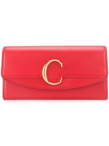 Chloé Chloé C Wallet - Red
