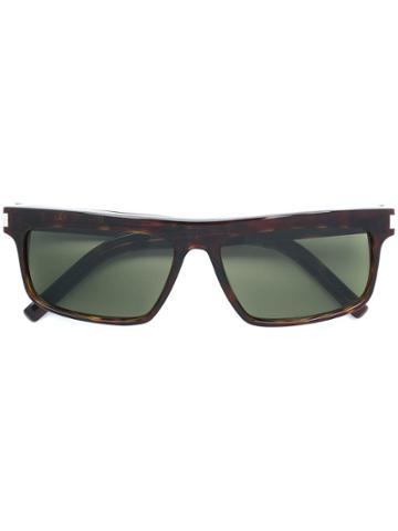 Saint Laurent Square Sunglasses - Brown