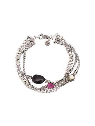 John Hardy Adwoa Aboah Silver And Mixed Stone Classic Chain Triple-row