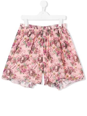 Moschino Kids Teen Floral Shorts - Nude & Neutrals