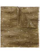 John Varvatos Crinkled Floral Print Scarf, Men's, Green, Modal