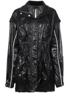 Proenza Schouler Shiny Nylon Tied Jacket - Black