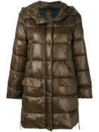 Luisa Cerano Hooded Puffer Coat - Green