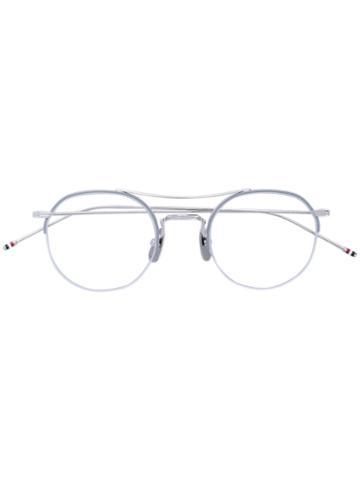 Thom Browne - Round Glasses - Unisex - Titanium - 49, Grey, Titanium