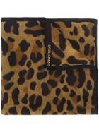 Dsquared2 Leopard Print Scarf - Brown