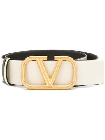 Valentino Valentino Garavani Vring Belt - White