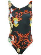 Brigitte Printed Swimsuit - Black